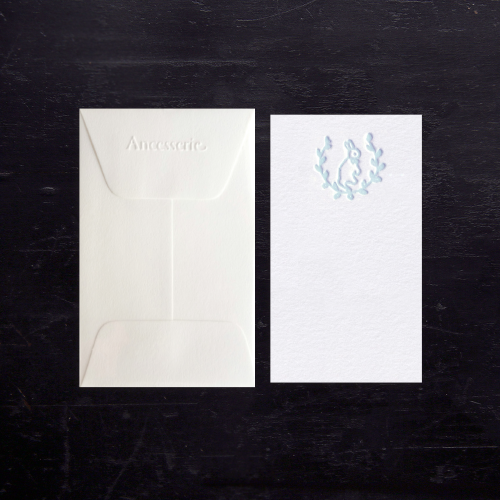 blue baby gift card set