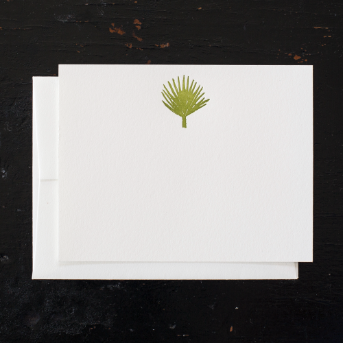 Palm Leaf Note Cards