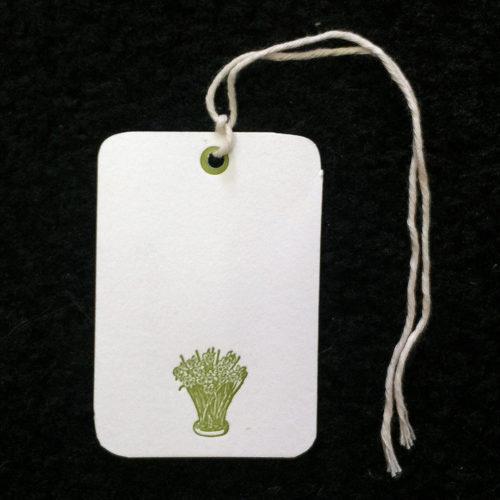 daffodils, gift tags, letterpress,