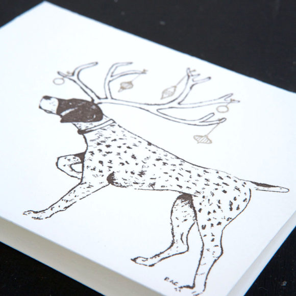 pointer, holiday, letterpress, greeting Cards, Christmas Cards,