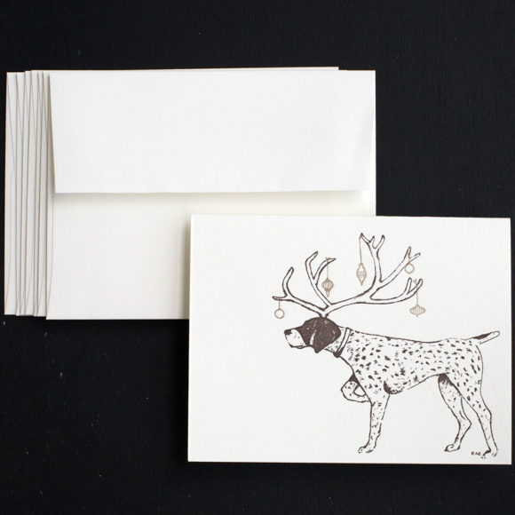 pointer, holiday, letterpress, greeting Cards, Christmas Cards, Boxed Sets