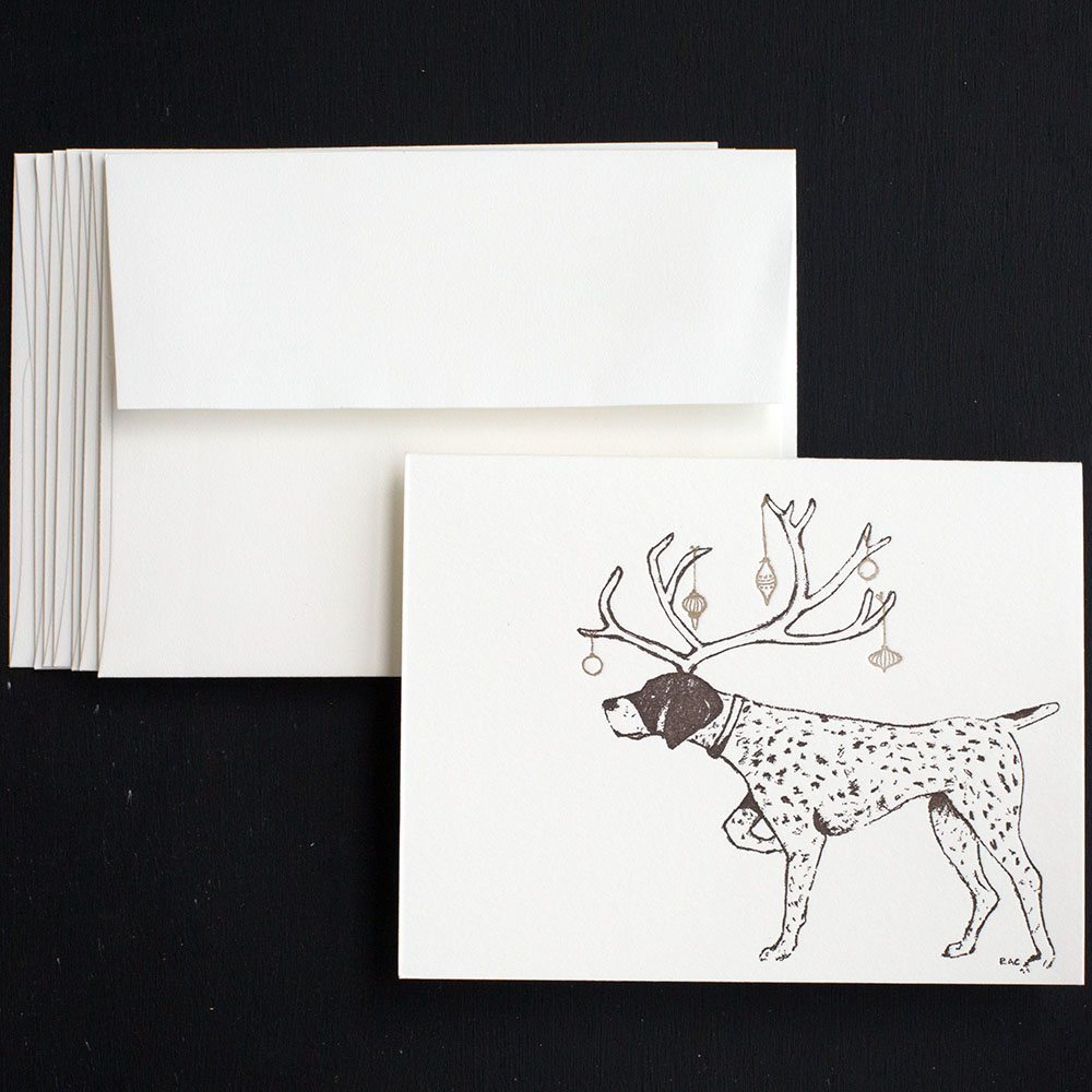 Holiday Pointer Greeting Cards | Ancesserie
