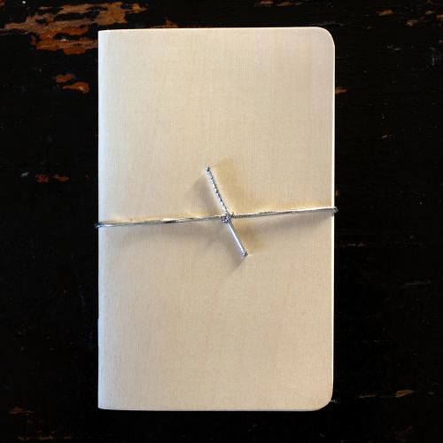 Wood notebook journal