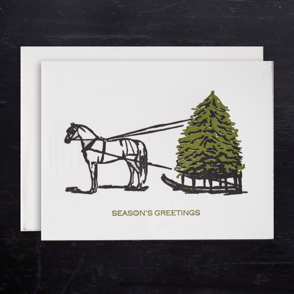 Horse & Sleigh Holiday Cards