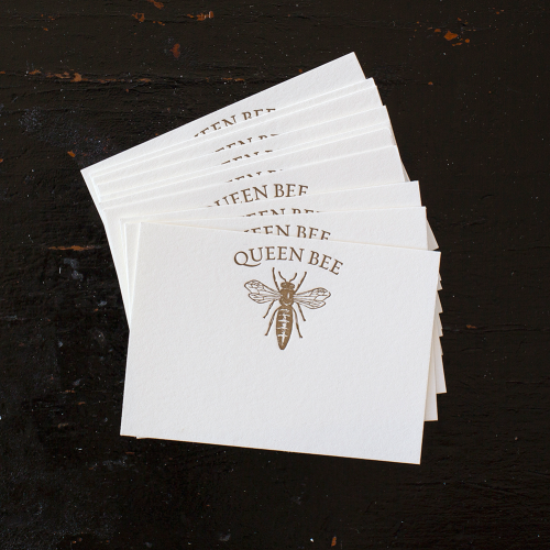 Gold Queen Bee Place Card Set