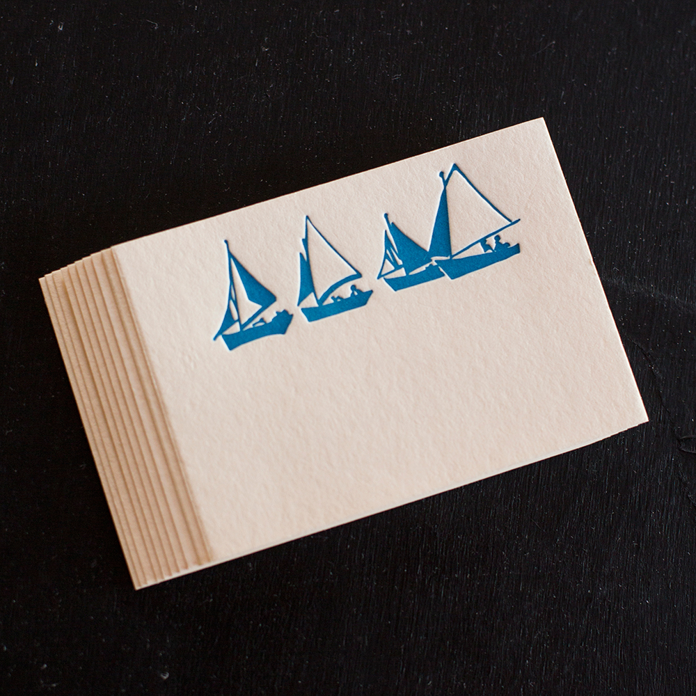 Sailboat Letterpress Place Cards, Enclosures | Ancesserie