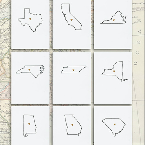 State Note Card Set