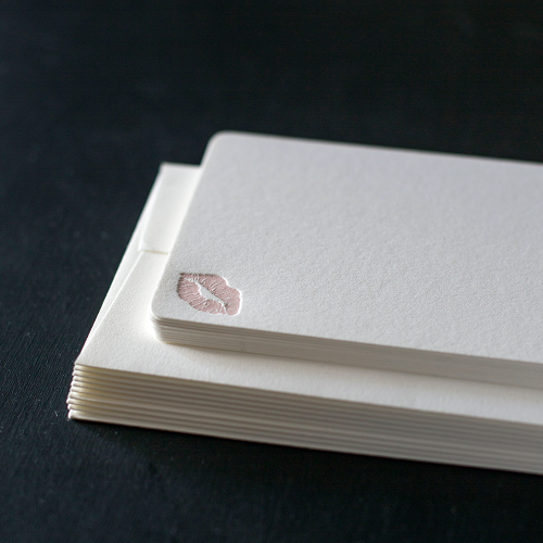 Lips Note Cards: Blush