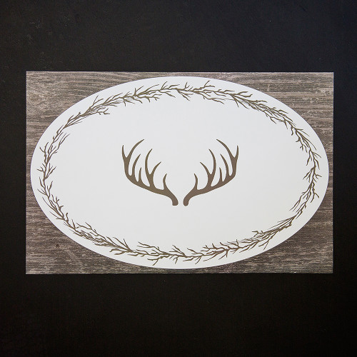 Disposable Antlers Place Mat Pad