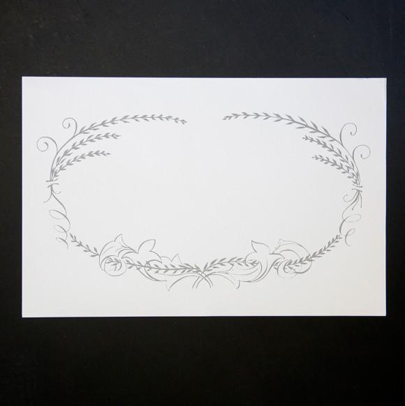 Calligraphic Place Mat Pad