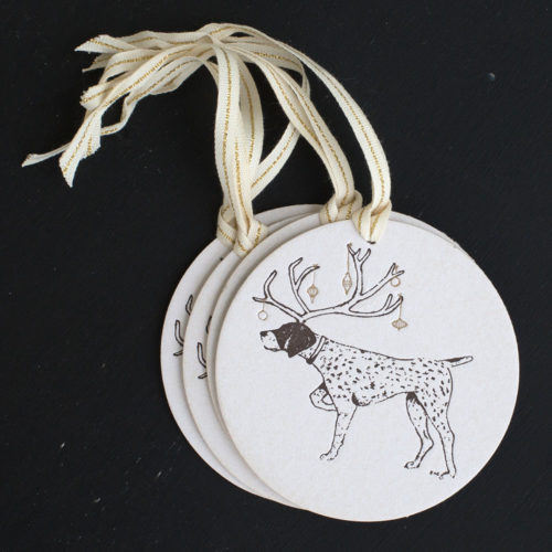 pointer, holiday, tags, ornaments, letterpress