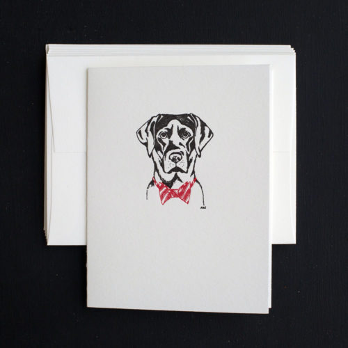 lab note cards, black lab, boxed set, holiday cards, sporting life, bar ware, black lab,