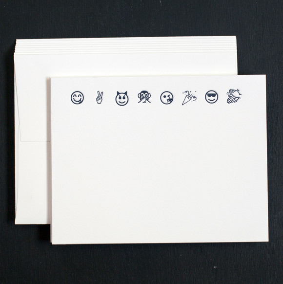 emoji, note cards, boxed sets