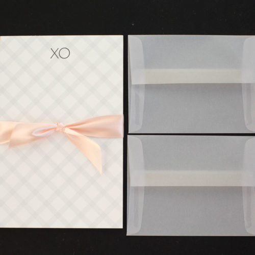 xo, writing set, letter sheets, hug, kiss, love, boxed set, stationery, letterpress