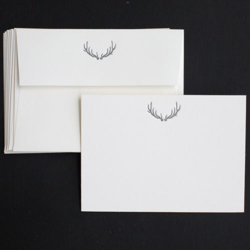 antler, note cards, luxury, sporting life, boxed set, letterpress, for him