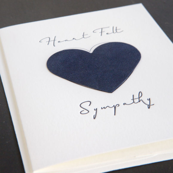 sympathy card, letterpress , greeting card, heartfelt, compassion, felted paper