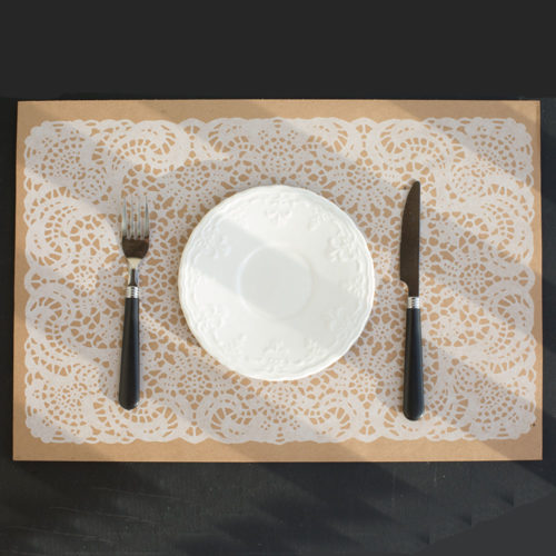 lace, place mat, disposable place mats, hostess gift, set the table, table scales, place setting
