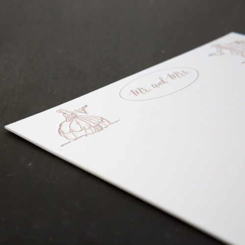 mr. and mrs, thank you notes, note cards, bride and groom, wedding letterpress, his and hers, wedding gift
