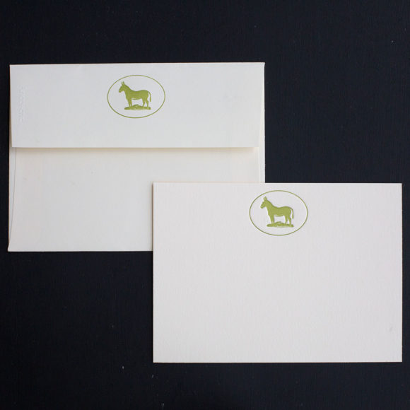 Boxed set, mule, note card, luxury, stately, farm, working mule, letterpress, notes