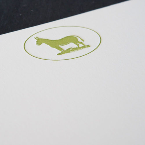 oxed set, mule, note card, luxury, stately, farm, working mule, letterpress, notes