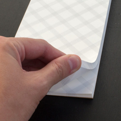 50 sheet long pad for lists and more.