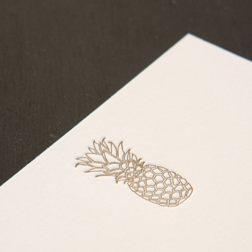 letterpress, pineapple note cards, boxed sets, welcome, hospitality, luxury notes,