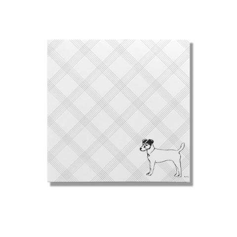 Terrier Short Note pad, terrier, note pad, jack Russell