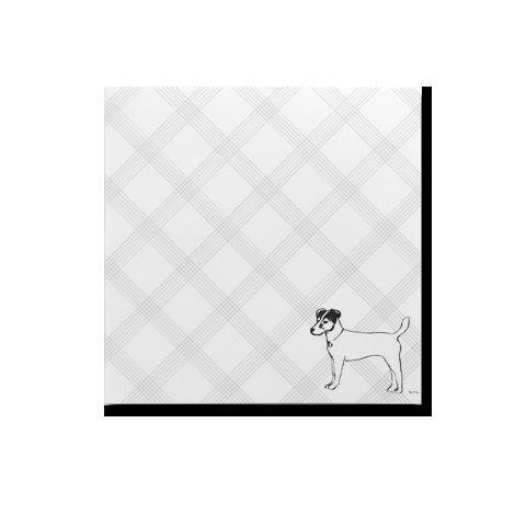 Terrier Short Note pad, terrier, note pad, jack Russell